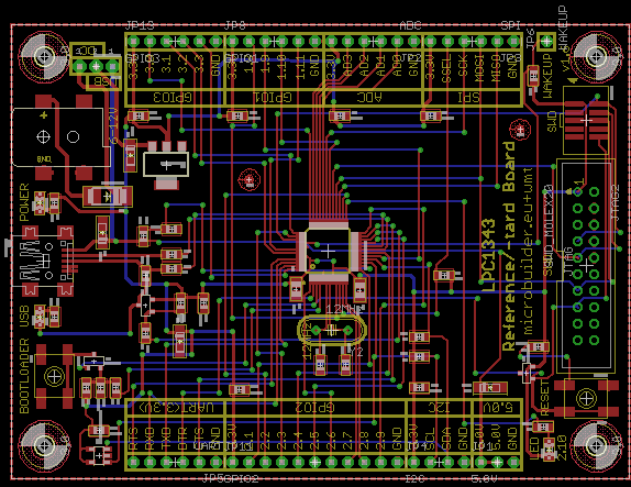 PCB with HC49/S crystal