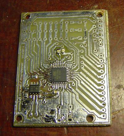 dmx-dimmer Master board after etching
