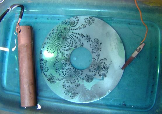 Copper-plating a hard drive disc
