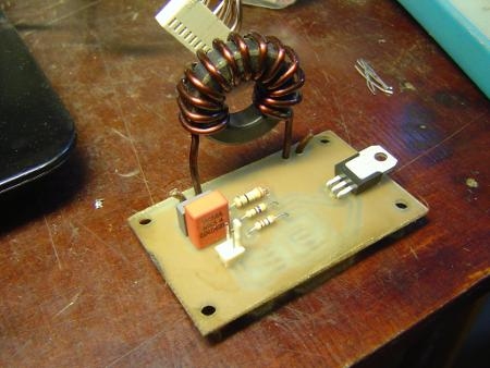Hand-wound heavy duty choke in a dimmer module
