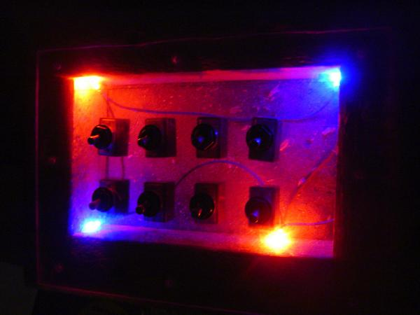 Power switch box with LED backlight