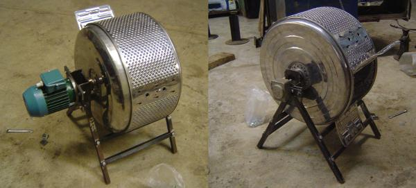 A motor on either side of the drum