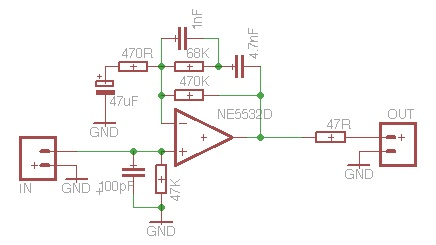 Phono pre on simple amplifier schematics