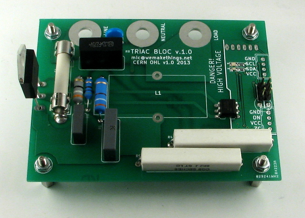 TRIAC BLOC - a solid-state relay with I2C interface
