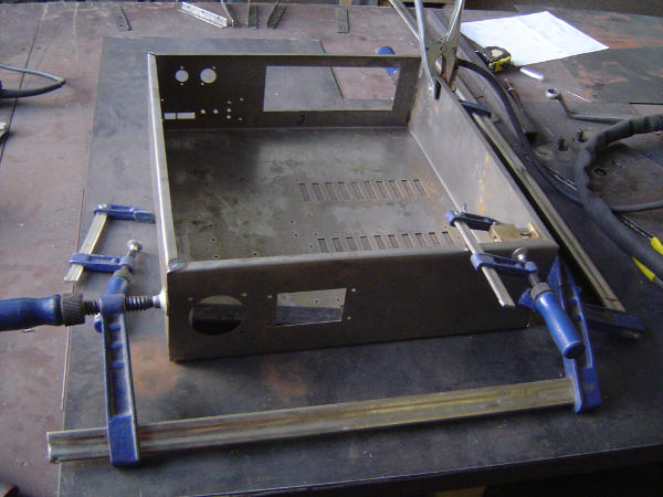 A large clamp for initial alignment