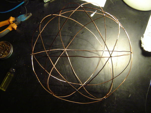 Wireframe orb with a lot more wire